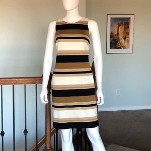 Banana Republic sz4 striped gold/black dress